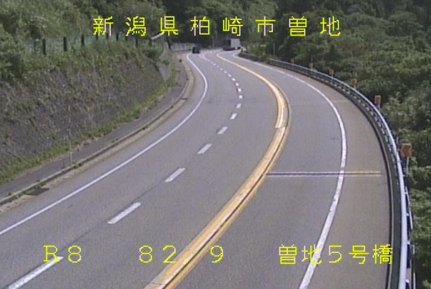 国道8号曽地5号橋ライブカメラ(新潟県柏崎市曽地)
