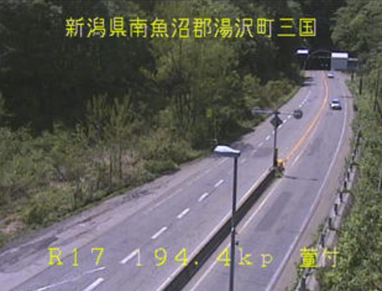 国道17号萱付ライブカメラ(新潟県湯沢町三国)