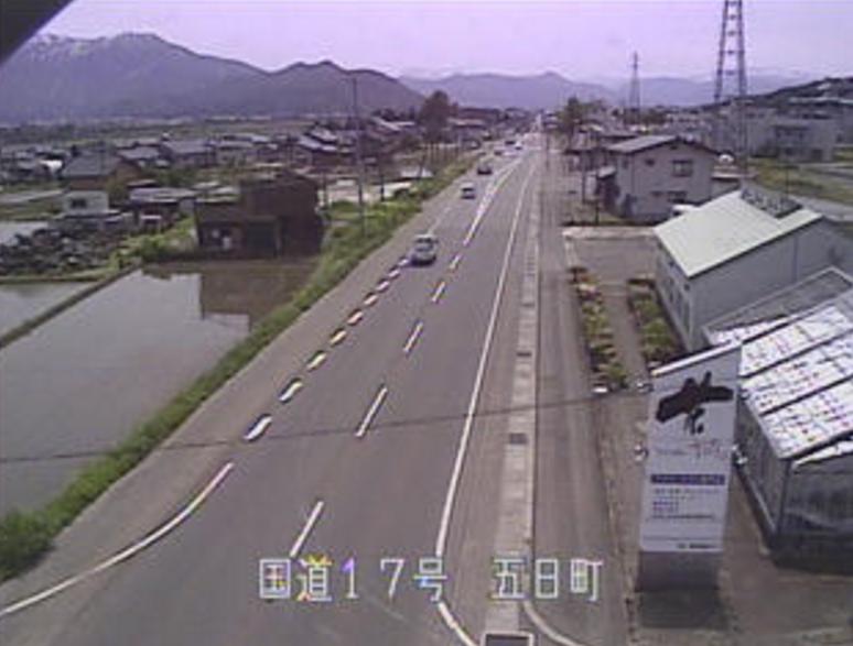 国道17号五日町ライブカメラ(新潟県南魚沼市五日町)