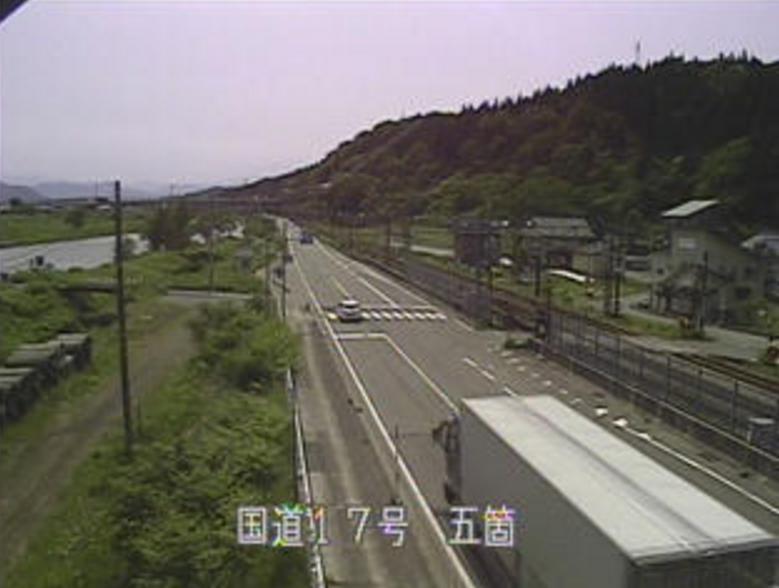 国道17号五箇ライブカメラ(新潟県南魚沼市五箇)