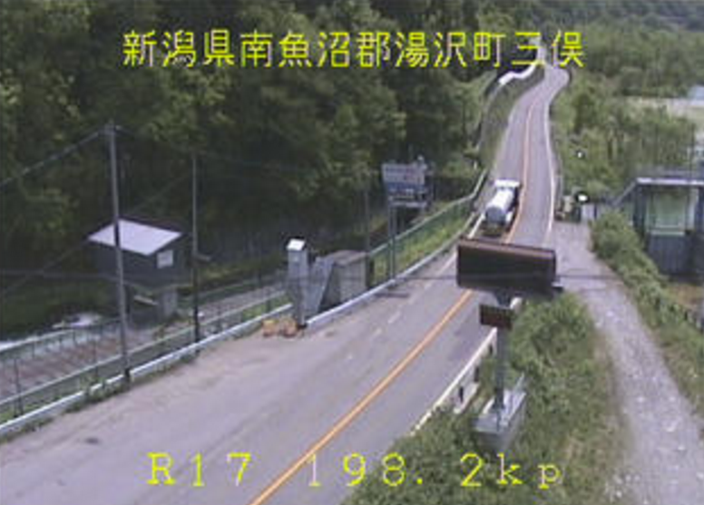 国道17号三俣ライブカメラ(新潟県湯沢町三俣)