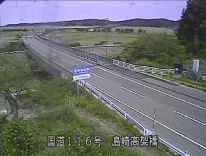 国道116号島崎ライブカメラ(新潟県長岡市島崎)
