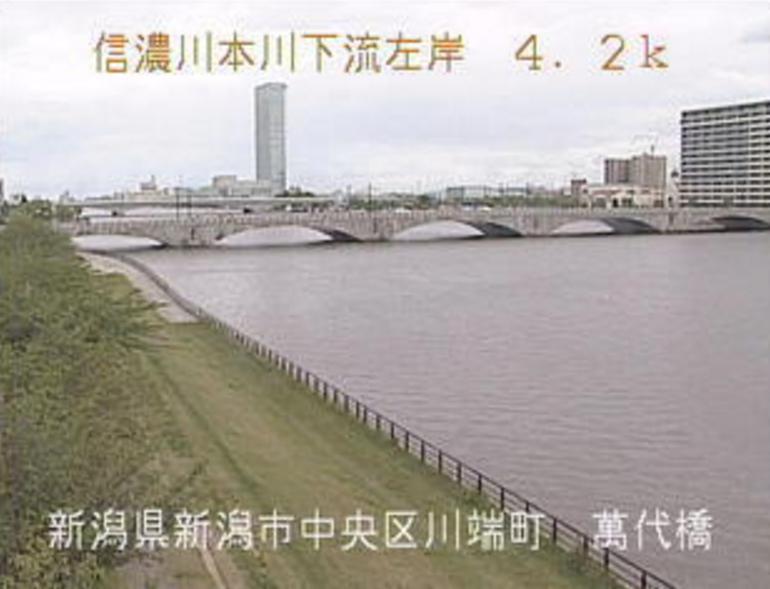 信濃川萬代橋ライブカメラ(新潟県新潟市中央区)