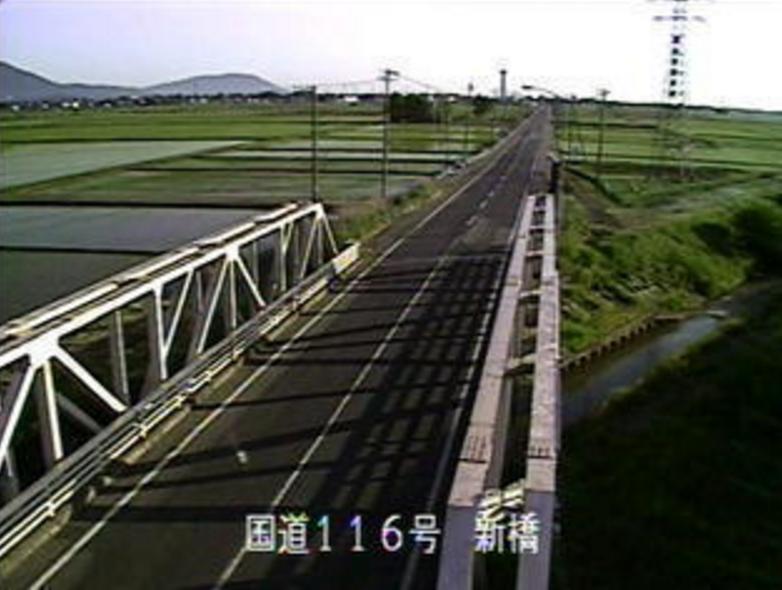国道116号粟生津ライブカメラ(新潟県燕市粟生津)
