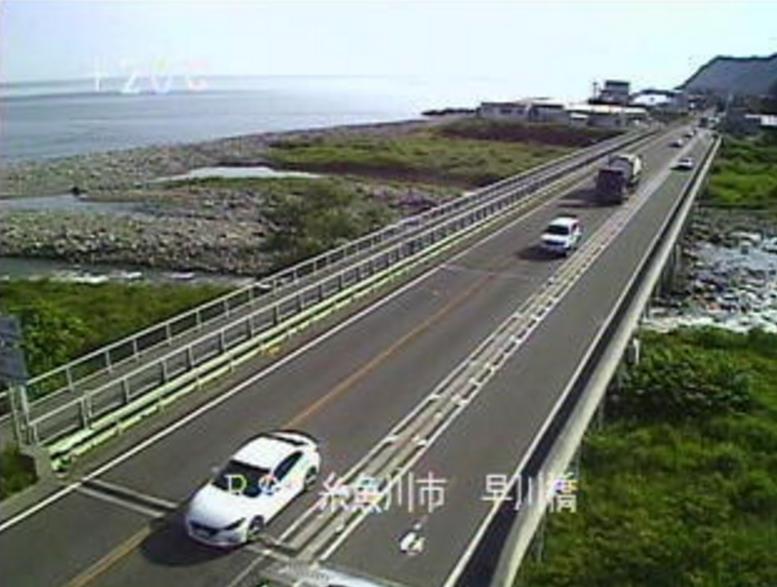 国道8号早川橋ライブカメラ(新潟県糸魚川市梶屋敷)