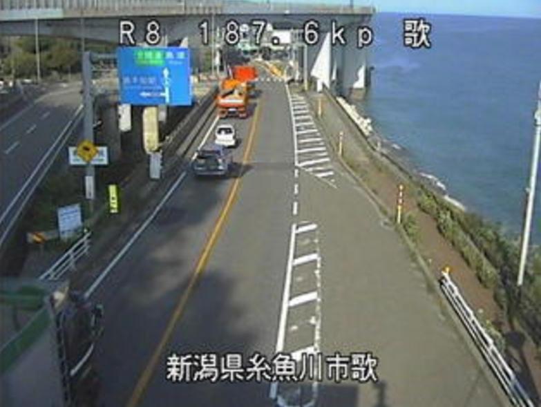 国道8号歌ライブカメラ(新潟県糸魚川市歌)
