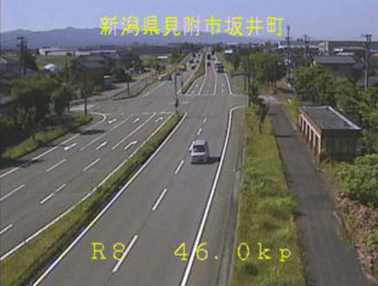 国道8号坂井町ライブカメラ(新潟県見附市坂井町)