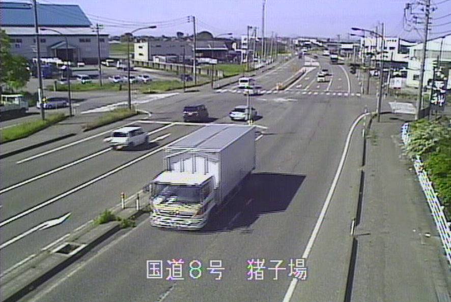国道8号猪子場新田ライブカメラ(新潟県三条市猪子場新田)