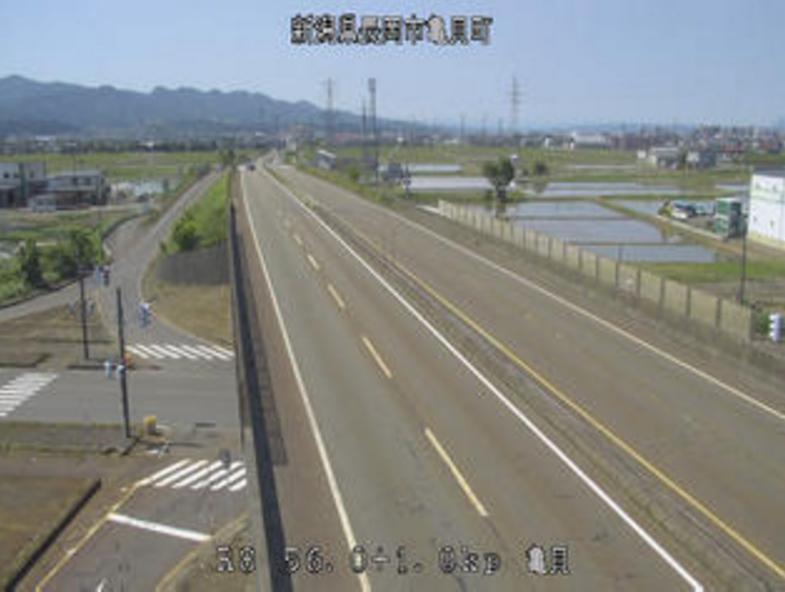 国道8号亀貝ライブカメラ(新潟県長岡市亀貝町)