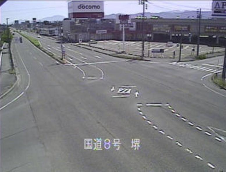 国道8号堺ライブカメラ(新潟県長岡市堺町)