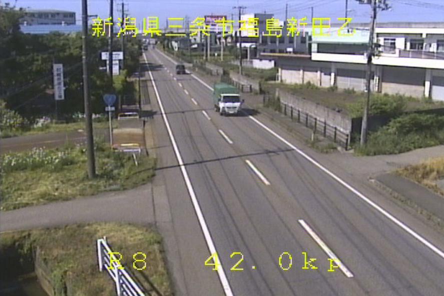 国道8号福島新田ライブカメラ(新潟県三条市福島新田)