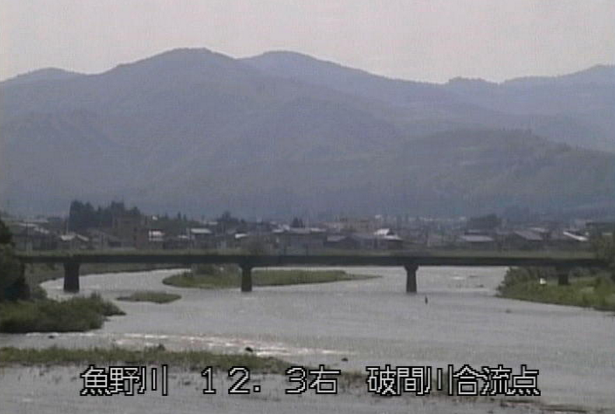 魚野川破間川合流点ライブカメラ(新潟県魚沼市田戸)