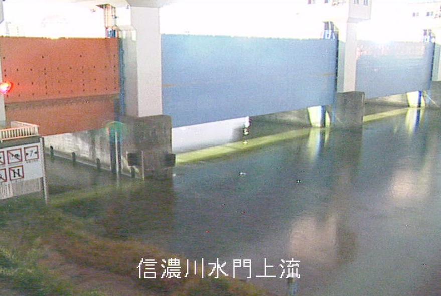 信濃川水門ライブカメラ(新潟県新潟市中央区)