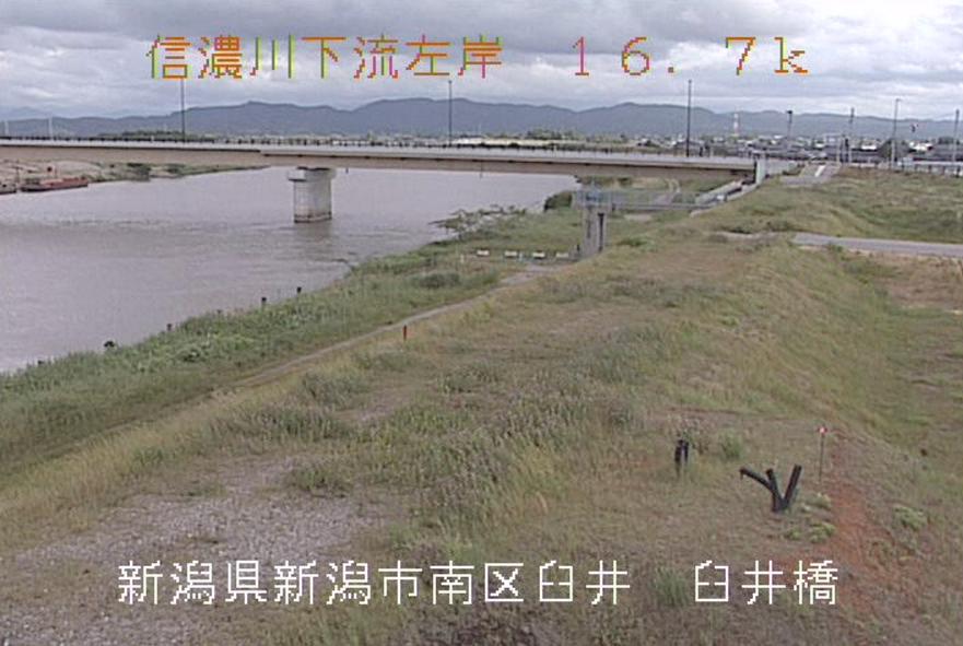 信濃川臼井橋ライブカメラ(新潟県新潟市南区)