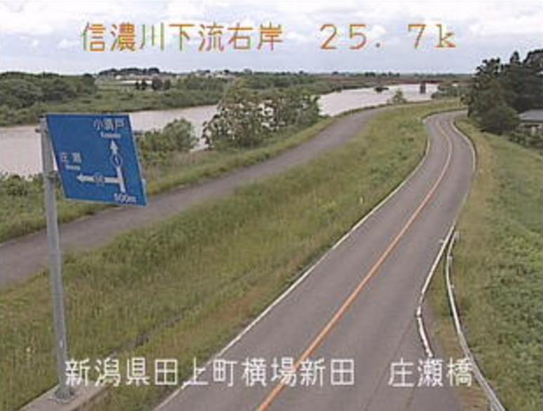 信濃川庄瀬橋ライブカメラ(新潟県田上町横場新田)