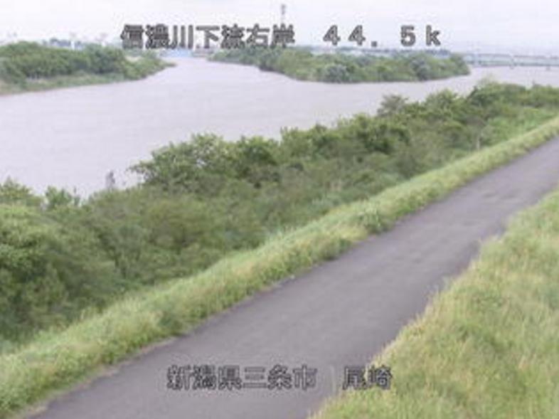 信濃川尾崎ライブカメラ(新潟県三条市尾崎)