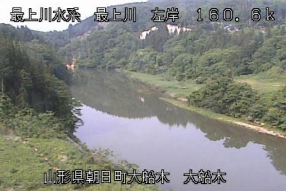 最上川大船木ライブカメラ(山形県朝日町大船木)