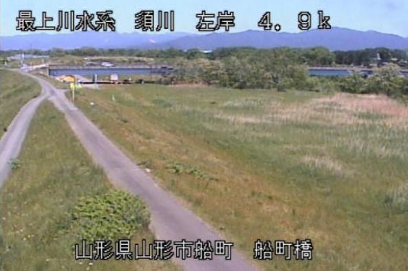 須川船町橋ライブカメラ(山形県山形市船町)