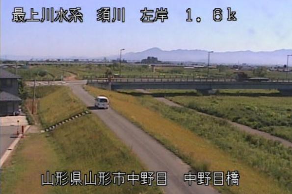 須川中野目橋ライブカメラ(山形県山形市中野目)