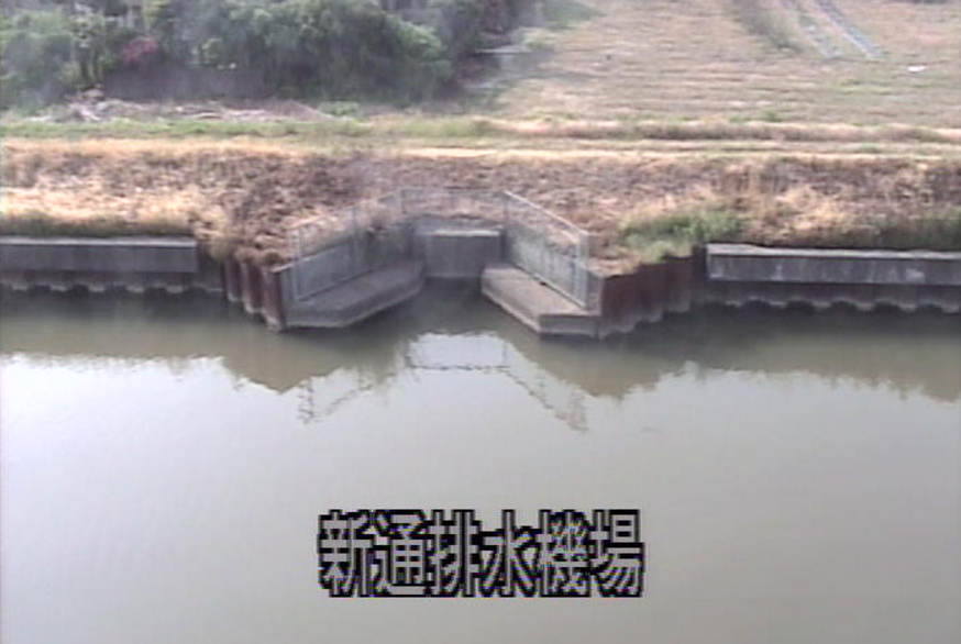 西川新通排水機場ライブカメラ(新潟県新潟市西区新通)