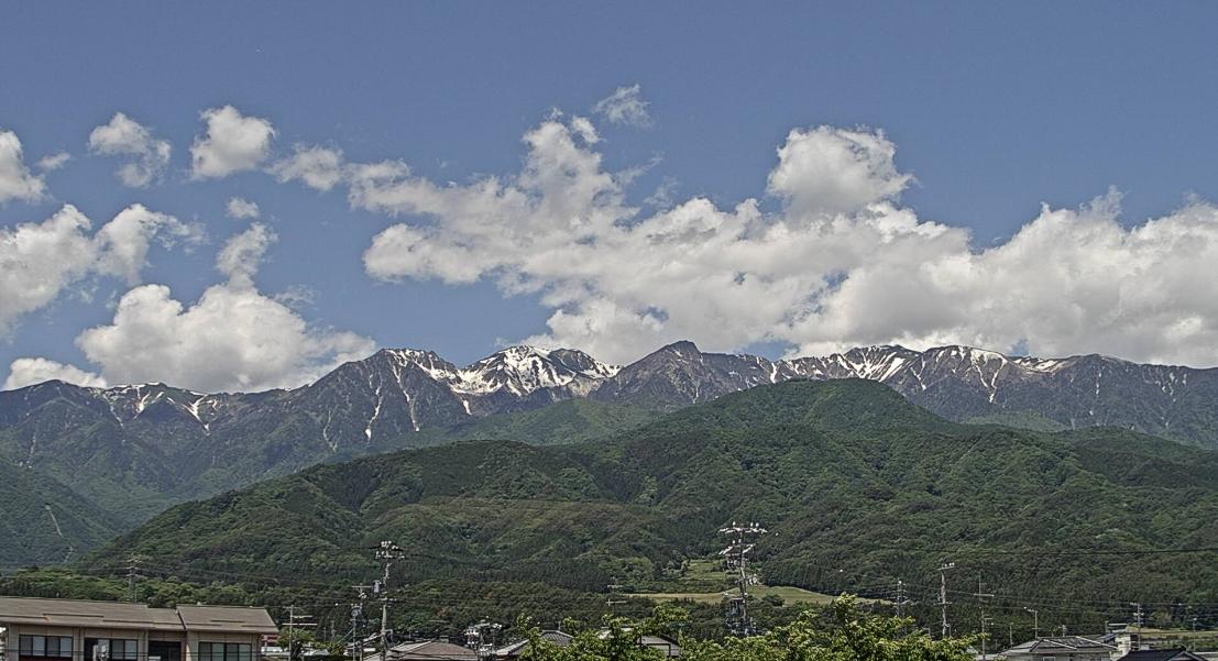 飯島町中央アルプスライブカメラ(長野県飯島町飯島)