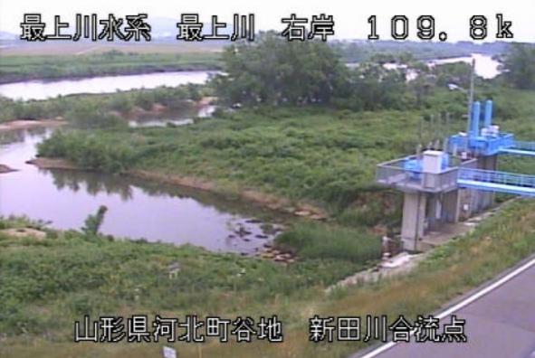 最上川新田川排水機場ライブカメラ(山形県河北町谷地)