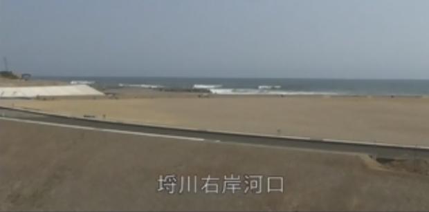 埒川右岸河口ライブカメラ(福島県新地町埓木崎)