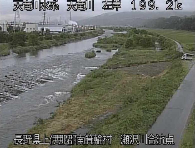 天竜川瀬沢川合流点ライブカメラ(長野県南箕輪)