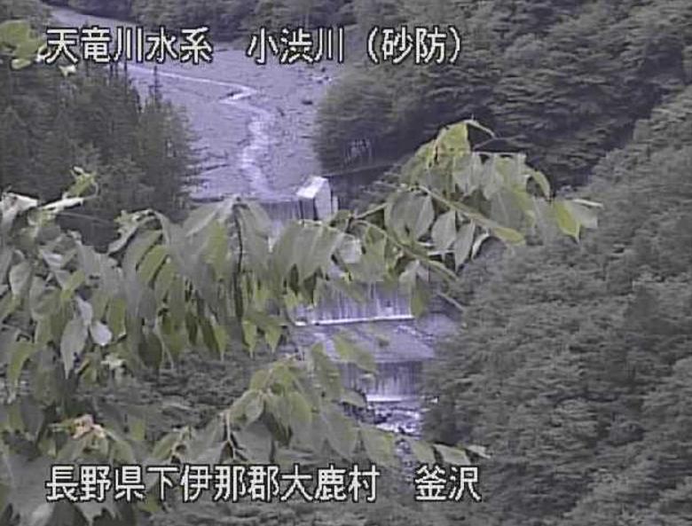 小渋川釜沢ライブカメラ(長野県大鹿村大河原)