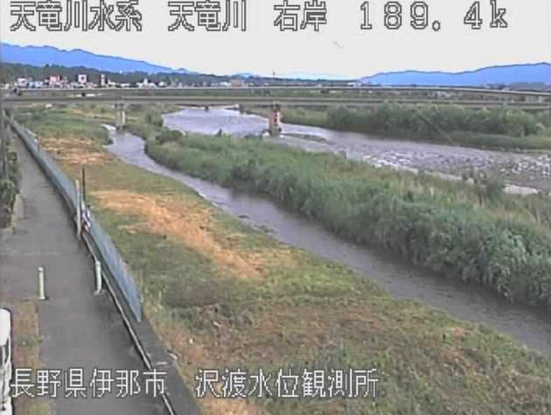 天竜川沢渡ライブカメラ(長野県伊那市東春近)