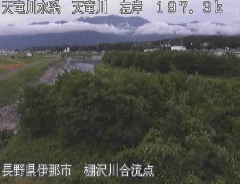 天竜川棚沢川合流点ライブカメラ(長野県伊那市福島)