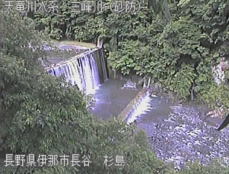 三峰川杉島ライブカメラ(長野県伊那市長谷)
