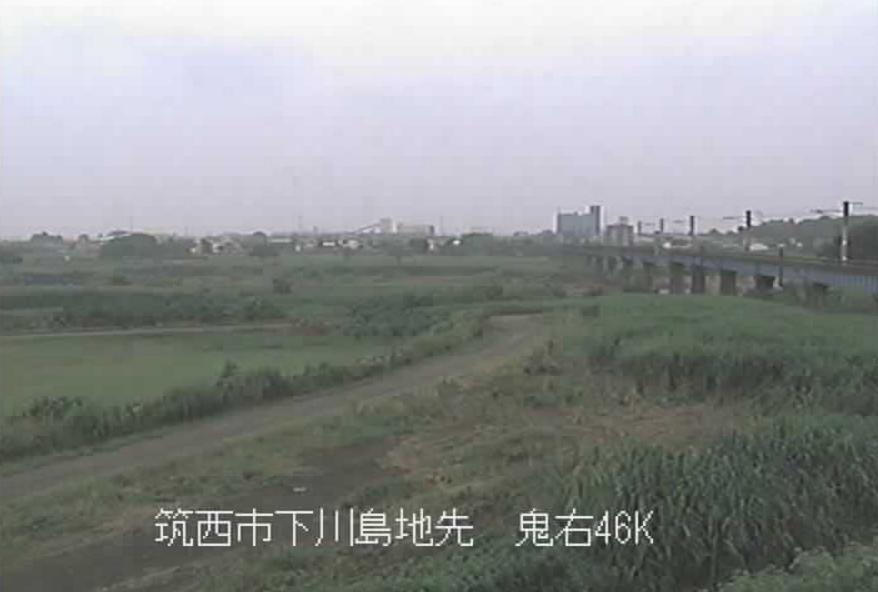 鬼怒川JR水戸線鬼怒川鉄橋ライブカメラ(茨城県筑西市下川島)