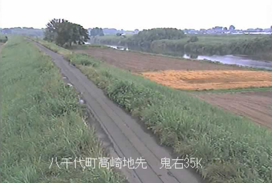 鬼怒川野爪排水樋管ライブカメラ(茨城県八千代町川尻)