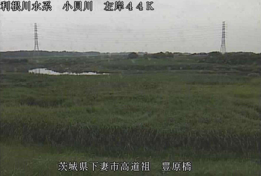 小貝川豊原橋ライブカメラ(茨城県下妻市高道祖)
