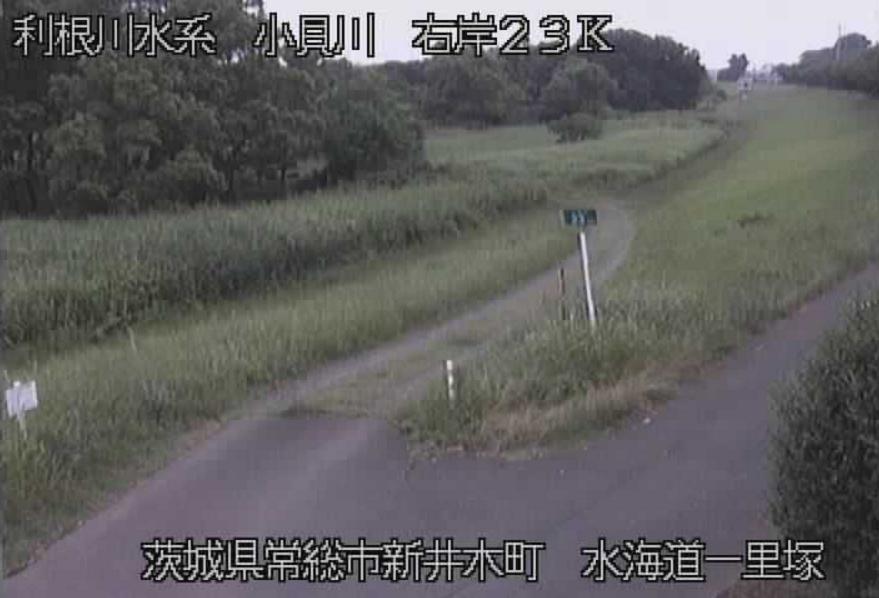 小貝川水海道一里塚ライブカメラ(茨城県常総市新井木町)