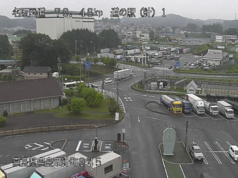 名阪国道道の駅針テラスライブカメラ(奈良県奈良市針町)