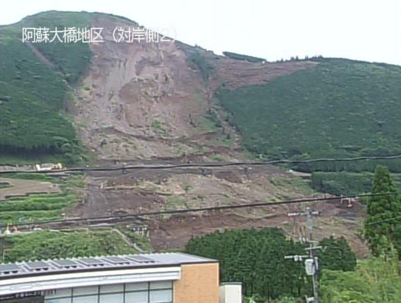 国道57号阿蘇大橋左岸ライブカメラ(熊本県南阿蘇村立野)