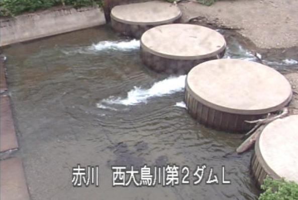 赤川西大鳥川第2ダムライブカメラ(山形県鶴岡市大鳥)