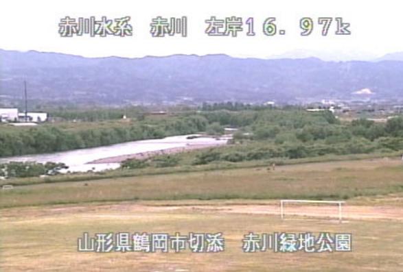 赤川三川橋ライブカメラ(山形県鶴岡市切添町)