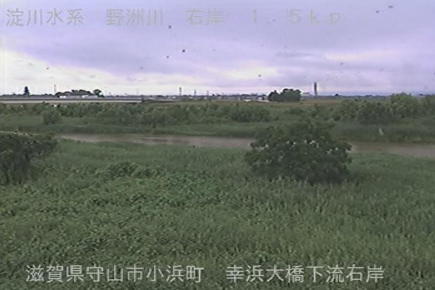 野洲川幸浜大橋ライブカメラ(滋賀県守山市小浜町)