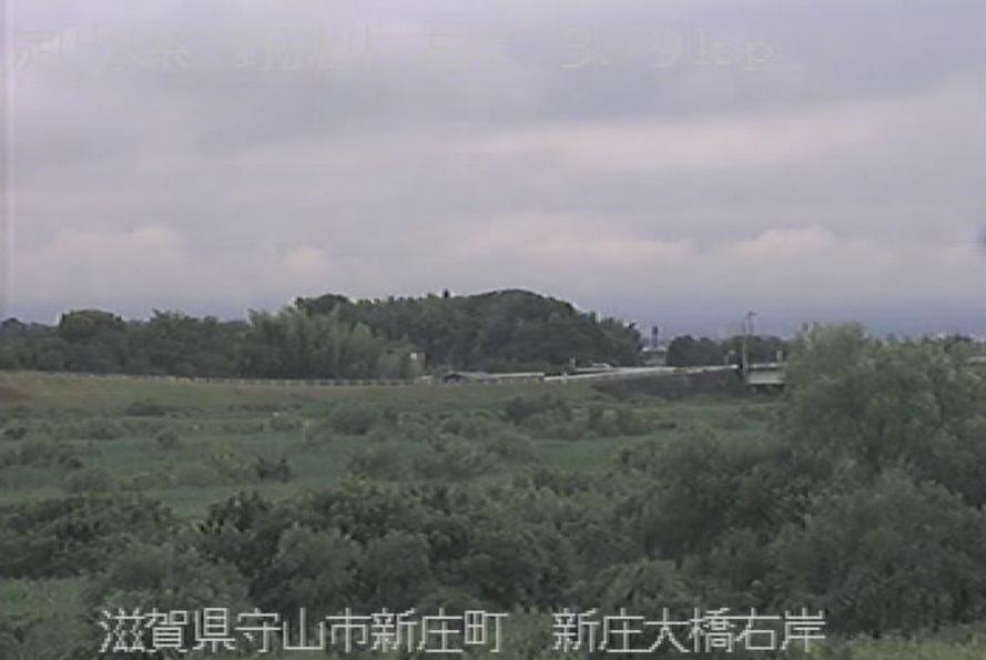 野洲川新庄大橋ライブカメラ(滋賀県守山市新庄町)