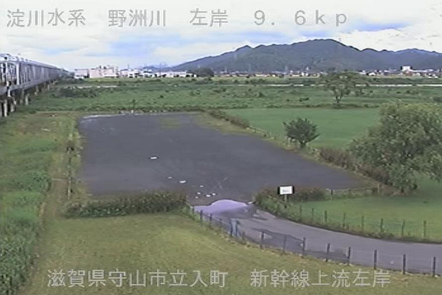 野洲川東海道新幹線上流左岸ライブカメラ(滋賀県守山市立入町)