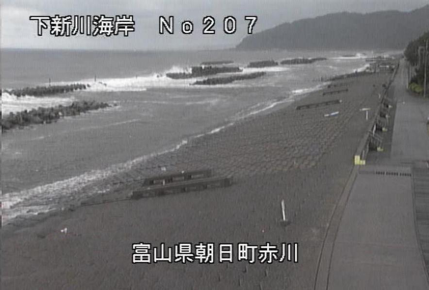 下新川海岸赤川ライブカメラ(富山県朝日町赤川)