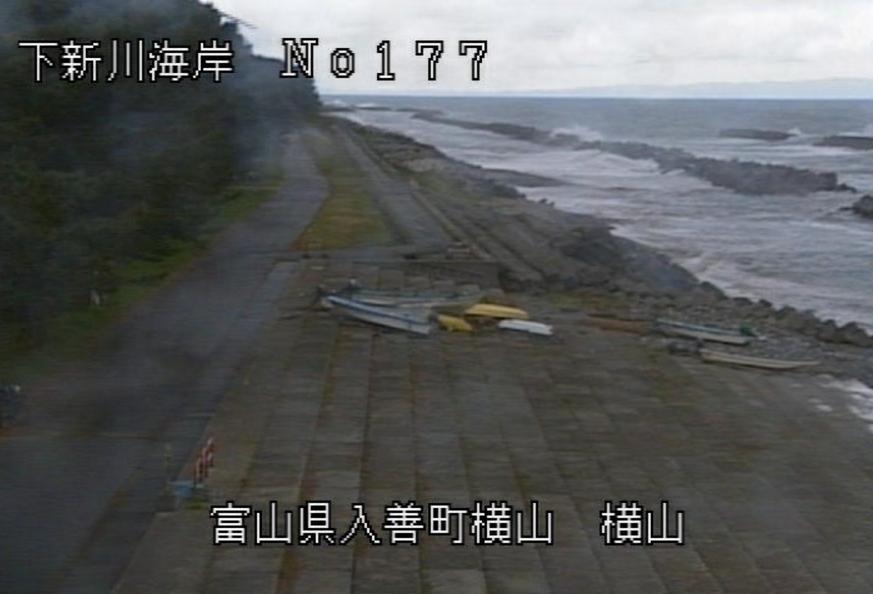 下新川海岸横山ライブカメラ(富山県入善町横山)