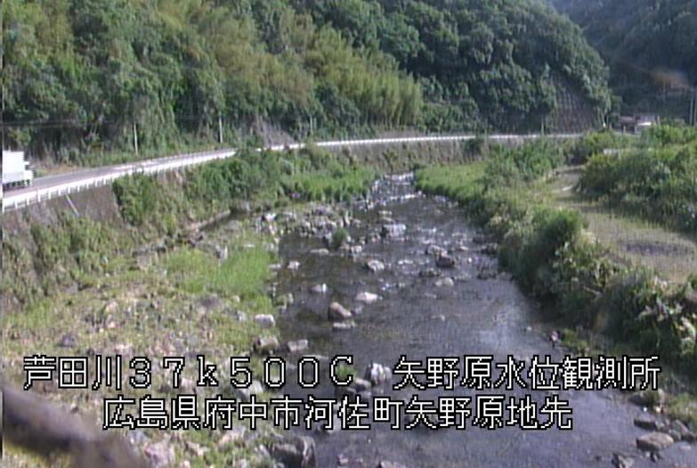 芦田川矢野原水位観測所ライブカメラ(広島県府中市河佐町)