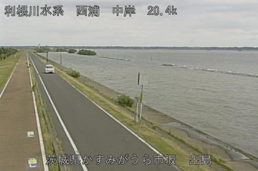 西浦出島ライブカメラ(茨城県かすみがうら市坂)