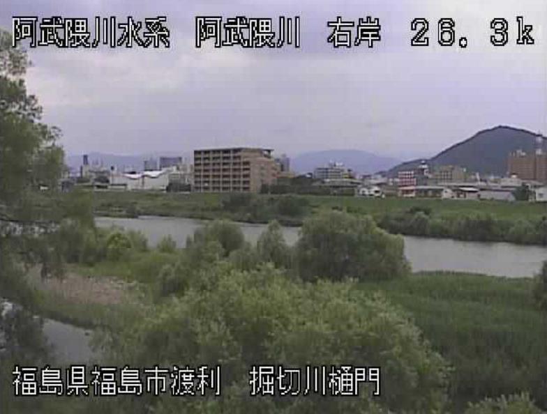 阿武隈川堀切水門ライブカメラ(福島県福島市渡利)
