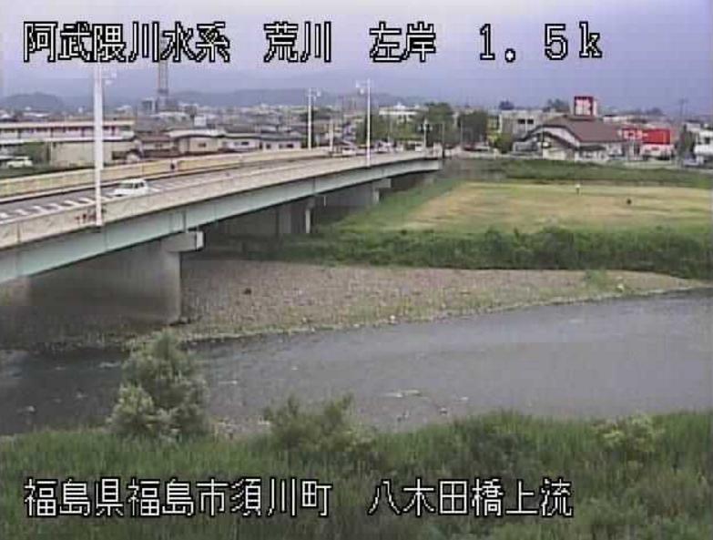 荒川八木田橋上流ライブカメラ(福島県福島市須川町)