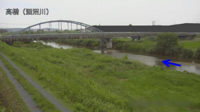 涸沼川高橋ライブカメラ(茨城県茨城町奥谷)
